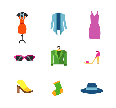 Female fashion icon set Illustration