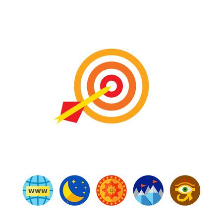 Icon of dart arrow hitting target