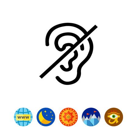 Deaf Sign Icon Illustration