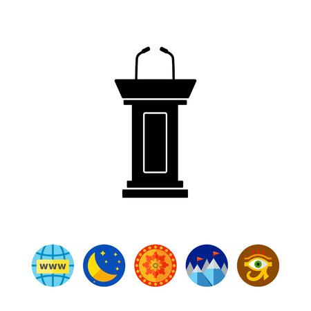 Débat simple icône Banque d'images - 79614700