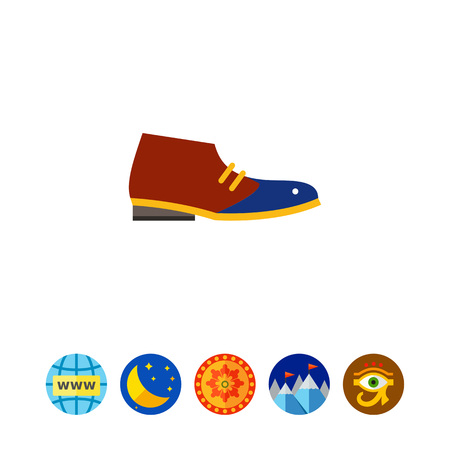 Desert boot. Man, leather, style. Footwear concept. Can be used for topics like footwear, marketing, fashion. Illustration