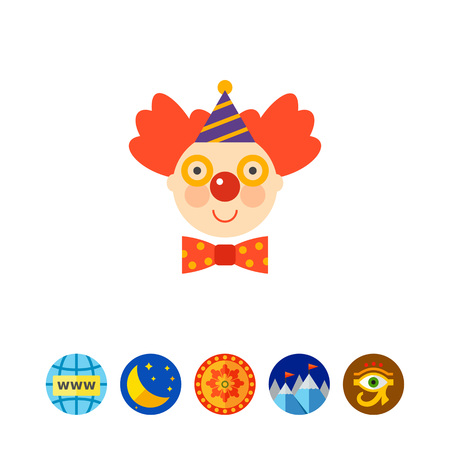 Icon of smiling clown face