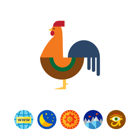 Cockerel icon Illustration