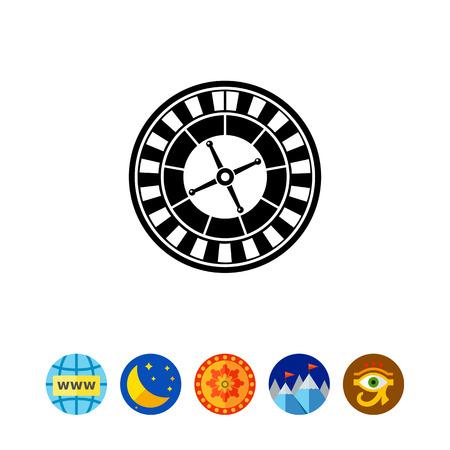 stake: Casino Roulette Icon Illustration