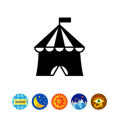 Circus tent icon Illustration