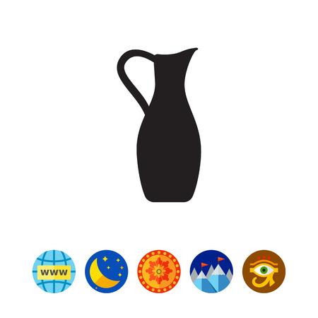 Clay jug icon Illustration