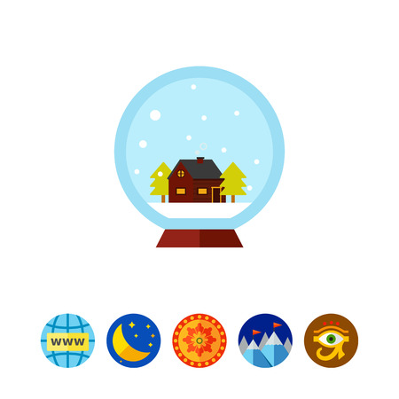 Crystal ball with house