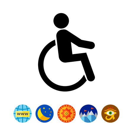 Disabled person in wheelchair. Injury, care, transport. Disabled concept. Can be used for topics like medicine, health, marketing.