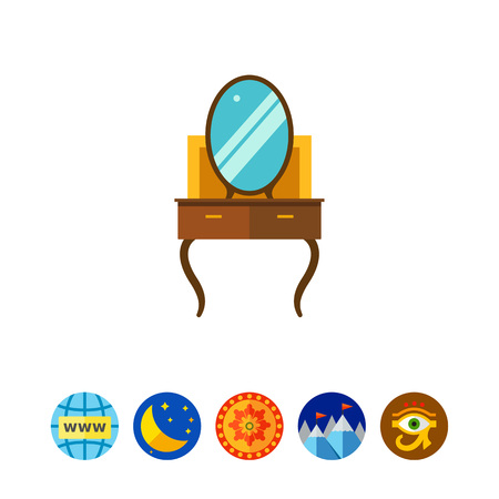 chest of drawers: Dressing table icon