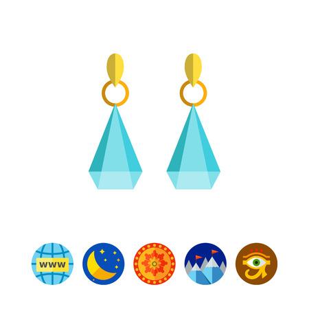 Earrings with gemstones