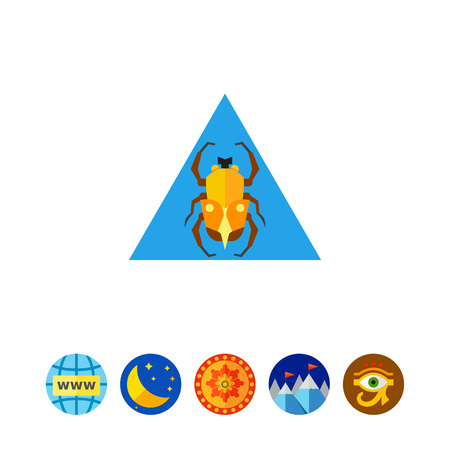 scarab: Egypt Scarab Beetle Icon