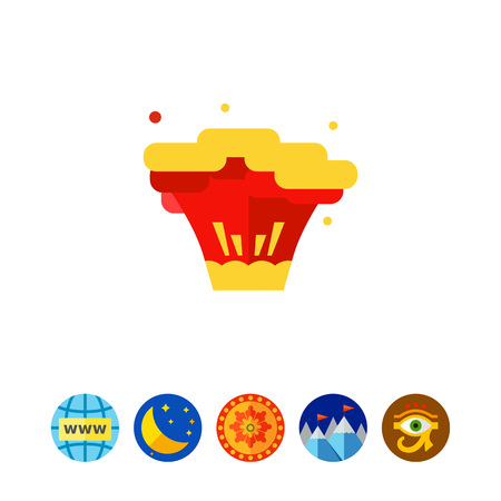 rampage: Explosion flat icon.