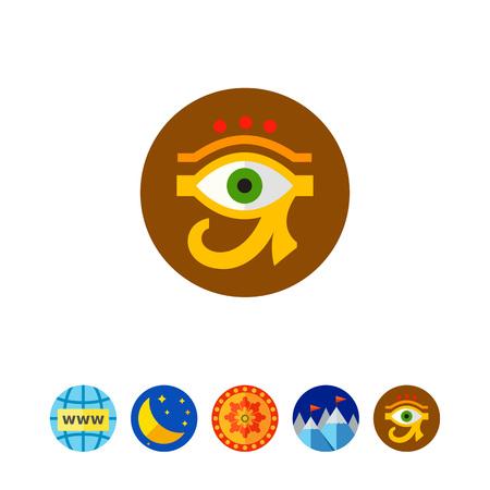 ojo de horus: Ojo del icono de Ra o de Horus. Vectores
