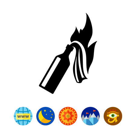 Fire Cocktail Icon