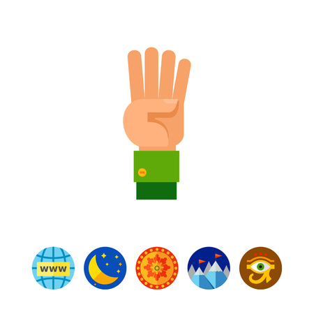 Four Fingers Up Icon