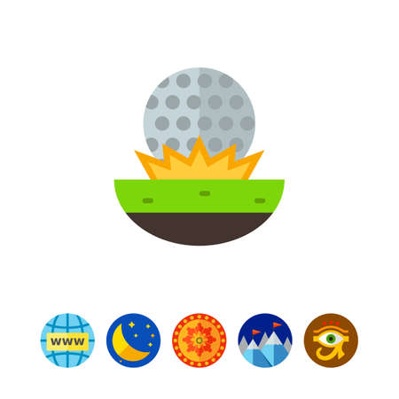 Golf Ball on Grass Icon