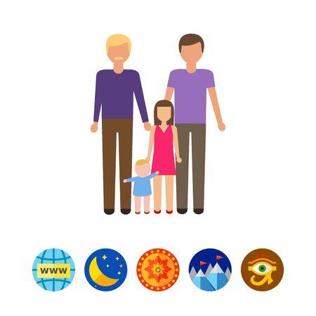 Gay family Illustration