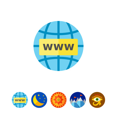 Globe with www in front of it. Internet concept. Storage, exchange, downloading. Can be used for topics like Internet, business, technology.