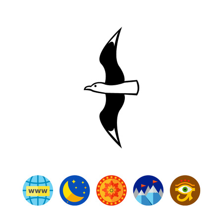 Flying Seagull Icon