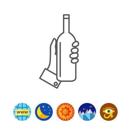 isolate: Hand holding bottle