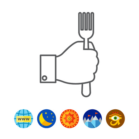 isolate: Hand holding fork
