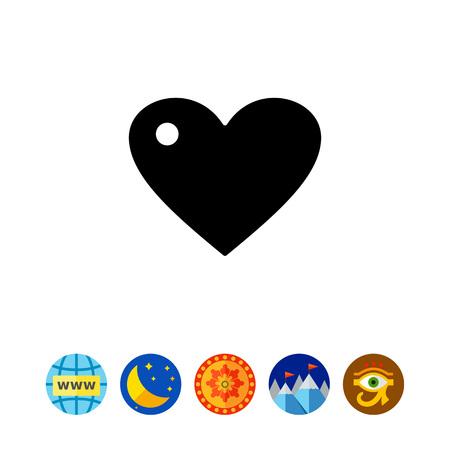 Heart simple icon Illustration
