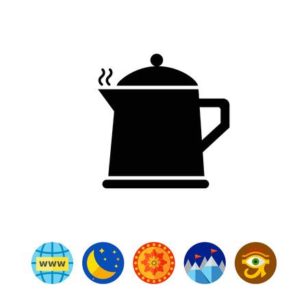 Hot teapot icon