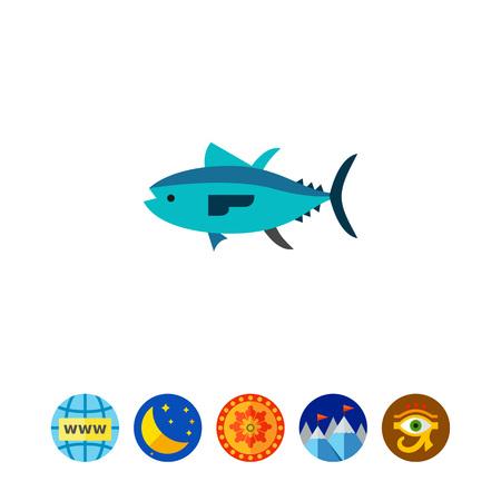 Isolated Tuna Icon