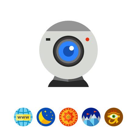 webcamera: Isolated Web-camera Icon Illustration