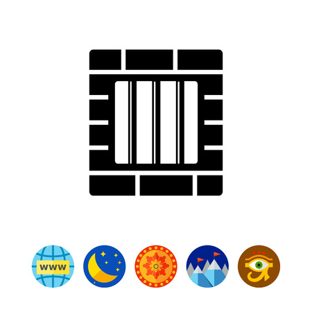 Jail simple icon Stock Vector - 80005842