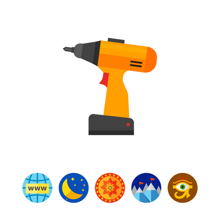 to mend: Electric screwdriver icon