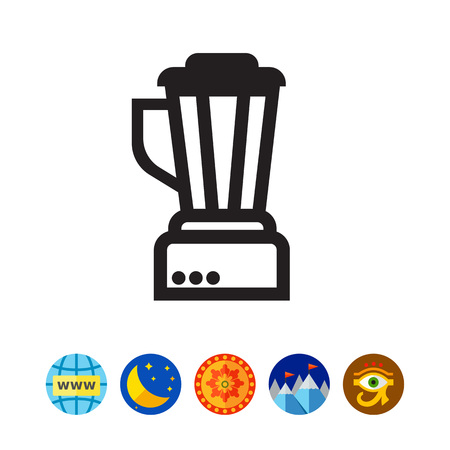 Vector icon of empty kitchen blender silhouette