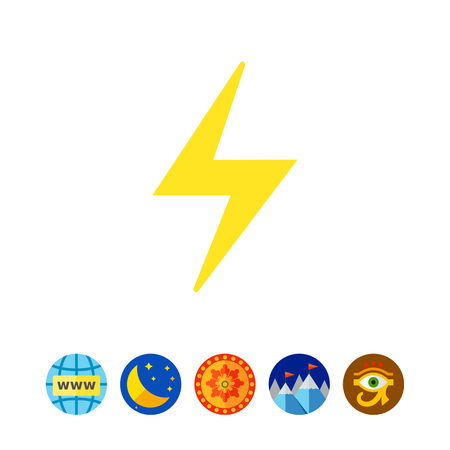 high voltage symbol: Icon of lightning sign Illustration