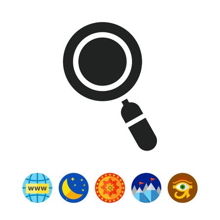 exploring: Magnifier icon Illustration