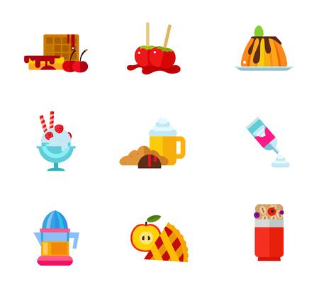 break fast: Dessert icon set Illustration