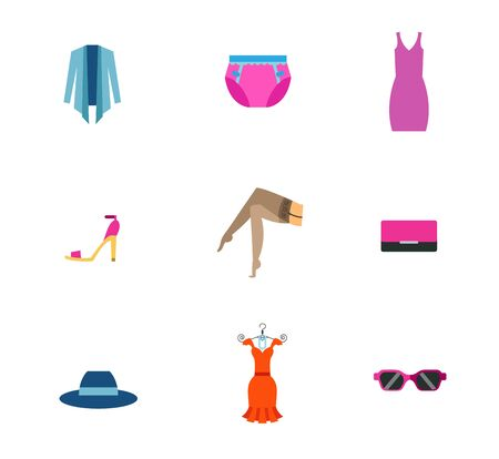 Female fashion concept icon set