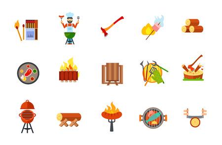 Garden party icon set
