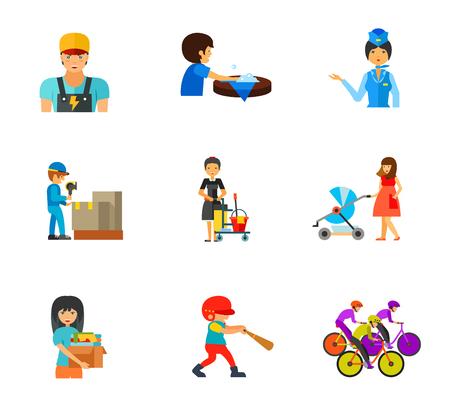 sports application: Occupation icon set Illustration