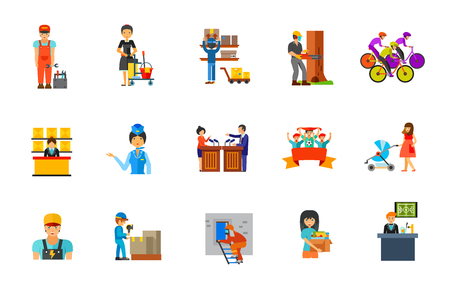 Profession icon set Illustration