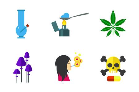 encendedores: Conjunto de iconos de narcóticos