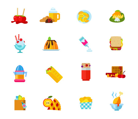 cereal bar: Desserts icon set