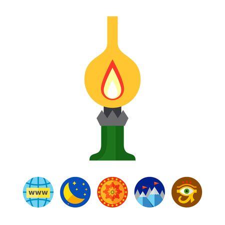 Kerosene lamp Illustration