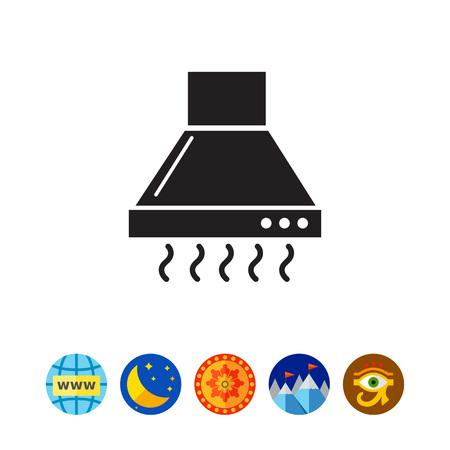 Kitchen hood icon Illustration