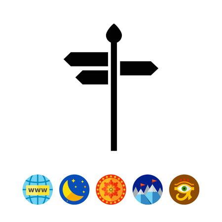 Direction sign icon Illustration