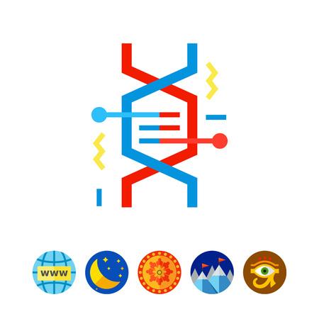 DNA Fragment as Genetics Concept Icon Illustration