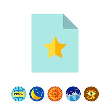 documentation: Document with yellow star