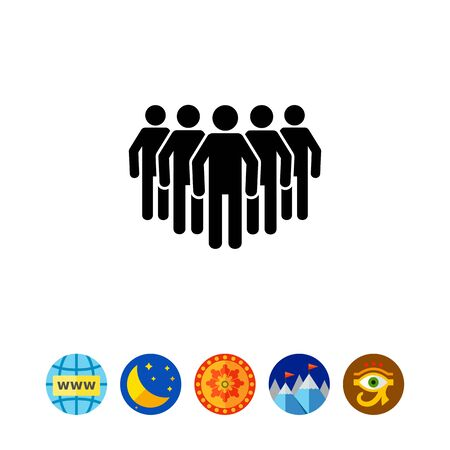 large group of business people: Group of People as Big Team Concept Icon