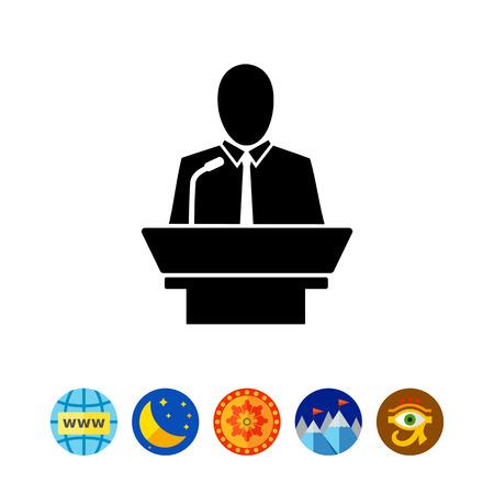 Leiderschap simpel pictogram