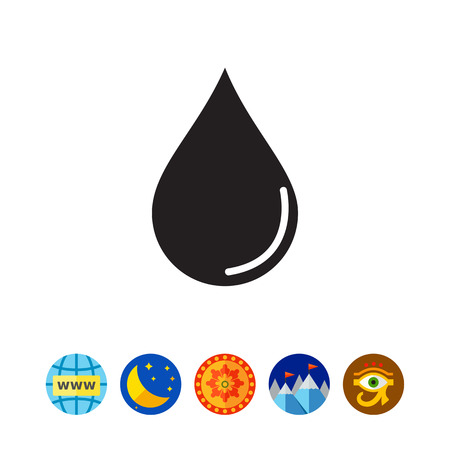 Liquid drop icon
