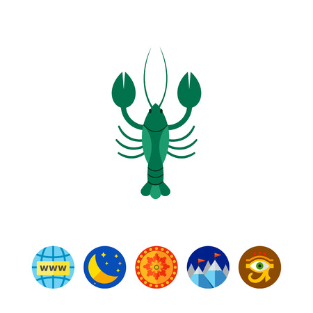 whiskers: Lobster icon